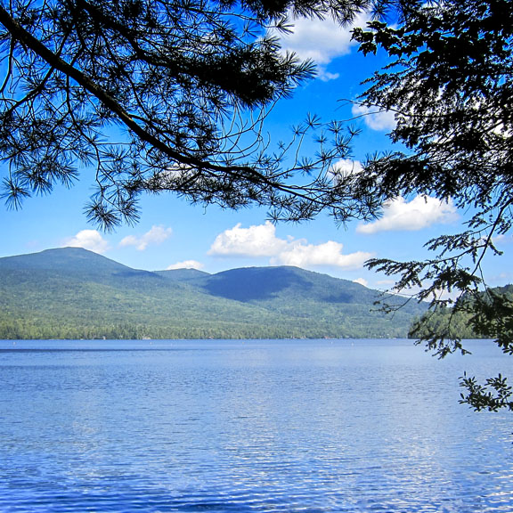 Adirondack Geology: Lake Placid, formed by a moraine (18 August 2011)
