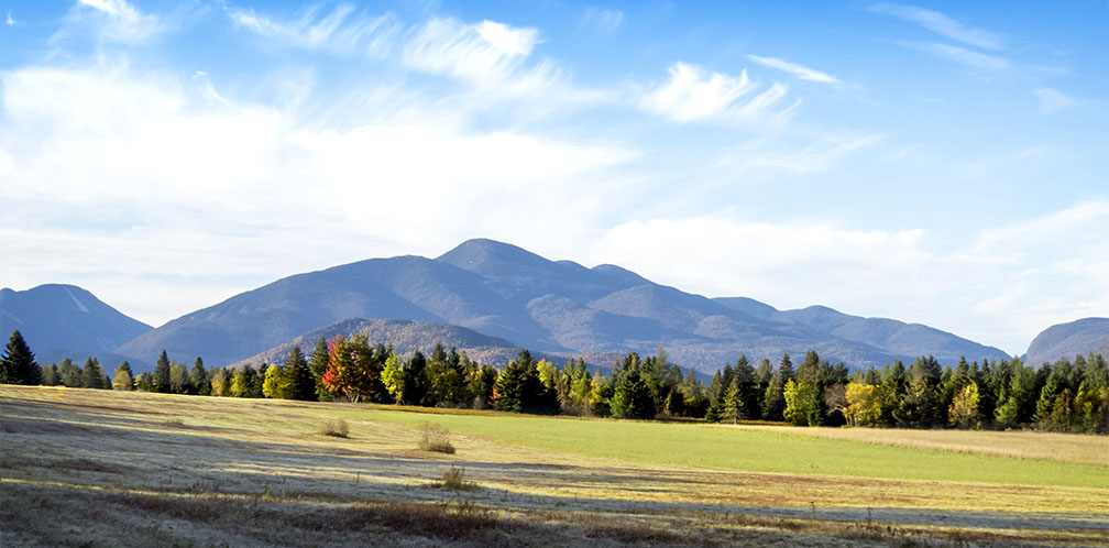 The Geologic History of the Adirondack Mountains: Algonquin Peak and South Meadows Lake plain near Lake Placid (4 October 2015)