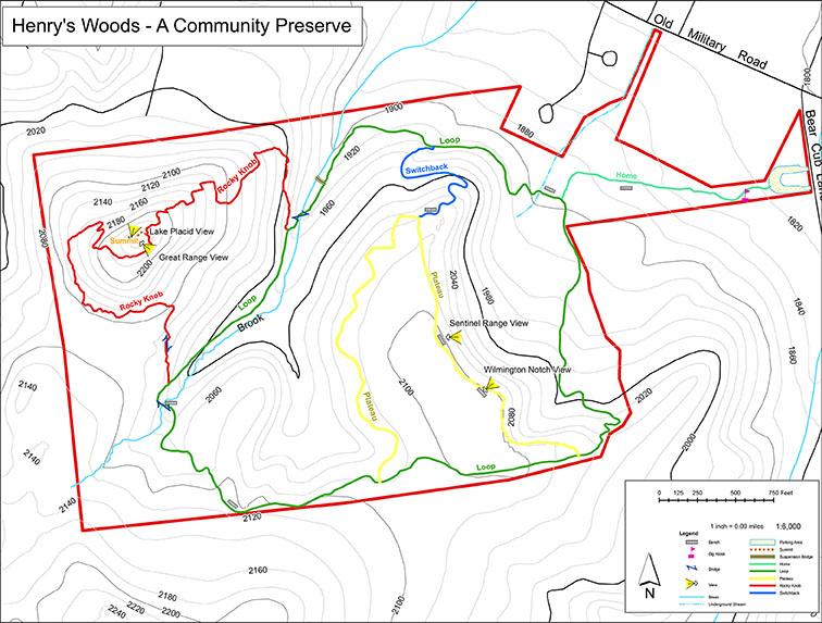 Adirondack Nature Trails: Henry\'s Woods Trails | Trail Map ...